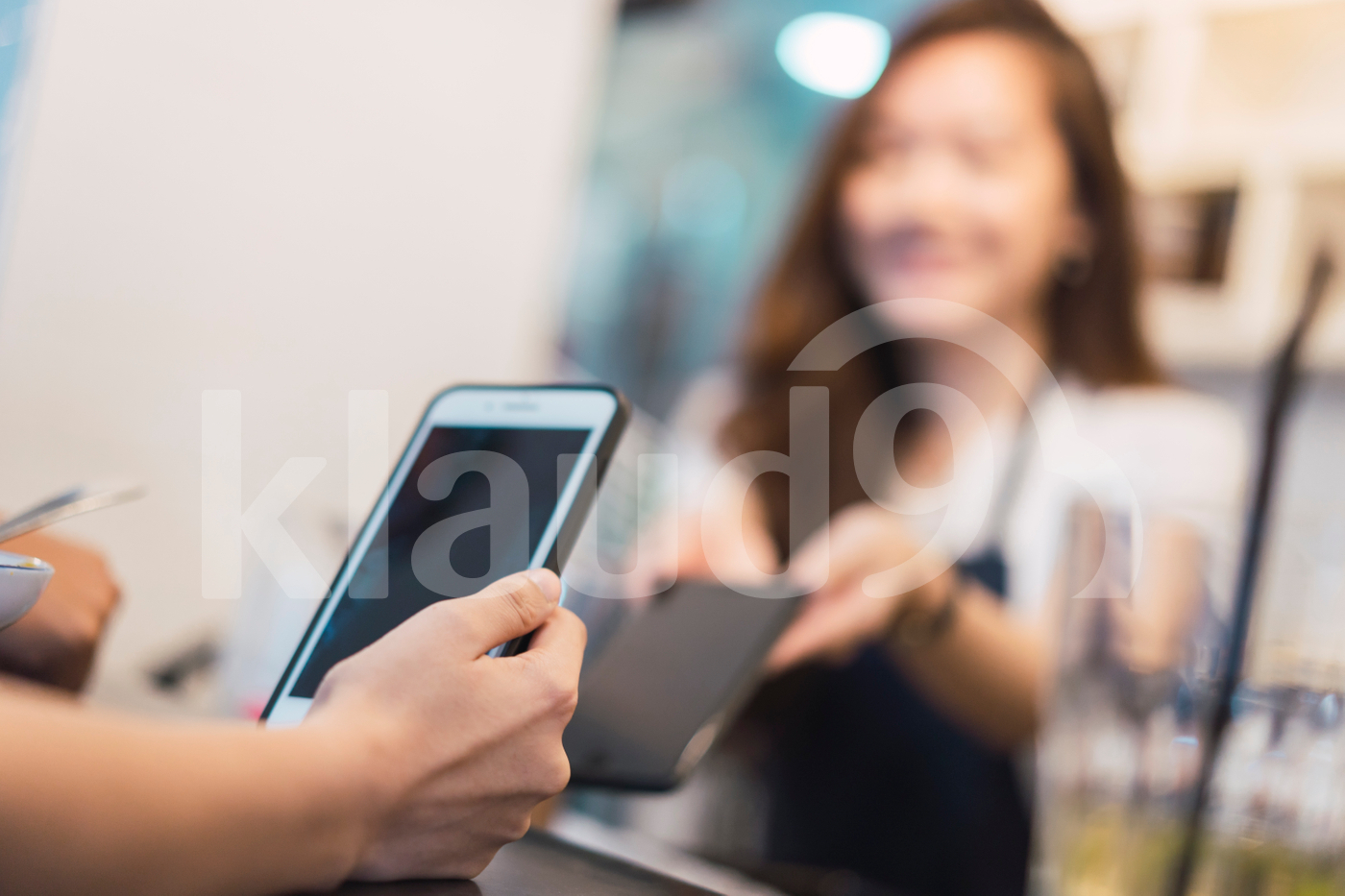 Cropped shot of woman making e-wallet payment