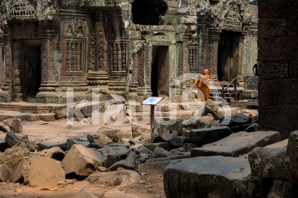 Monk in temple