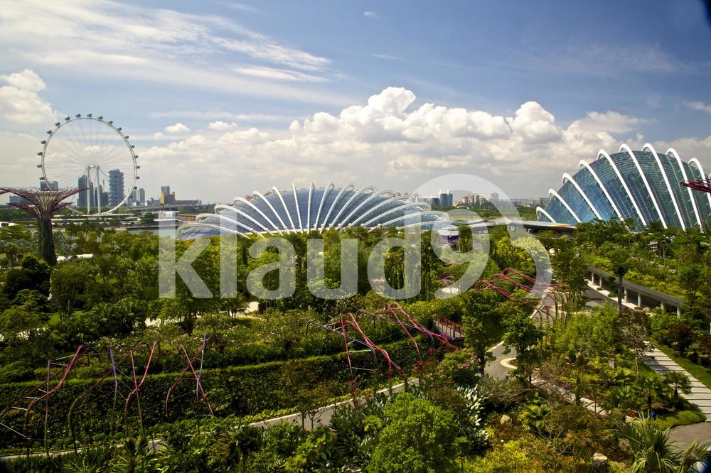 Singapore skyline from Gardens by the Bay