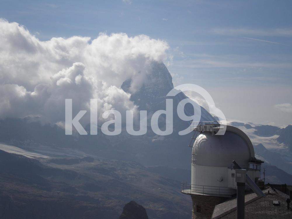 View of clouds from observatory