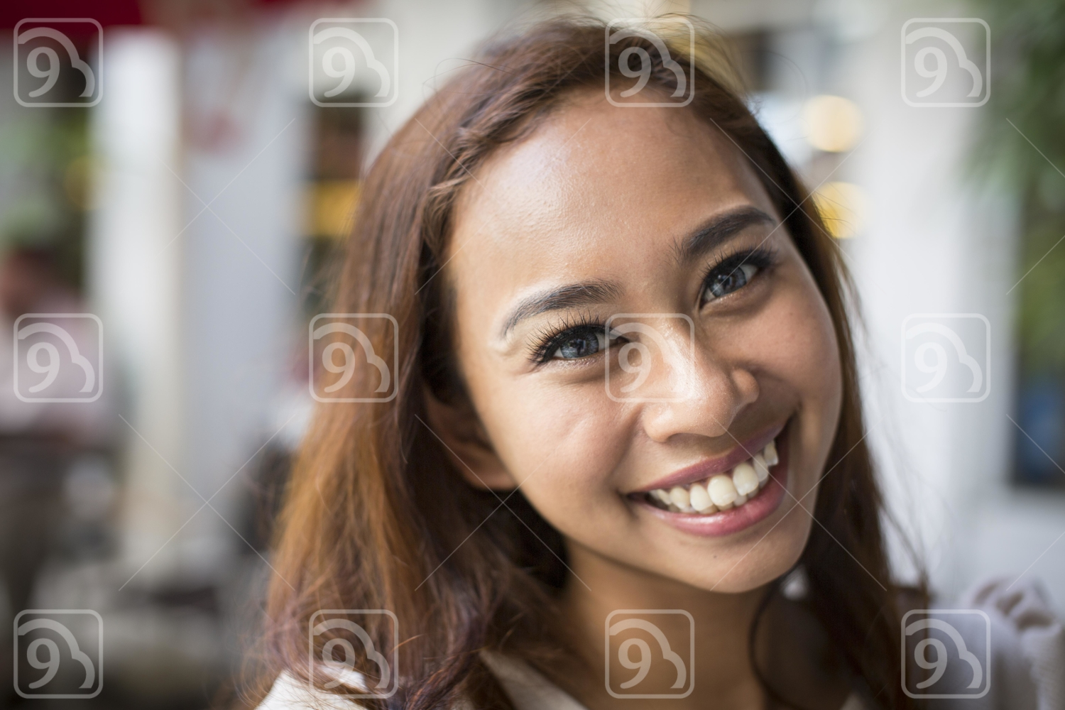 Great smile of a happy woman