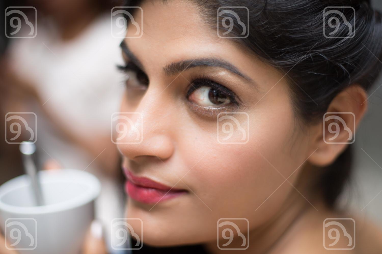 Woman looking at you