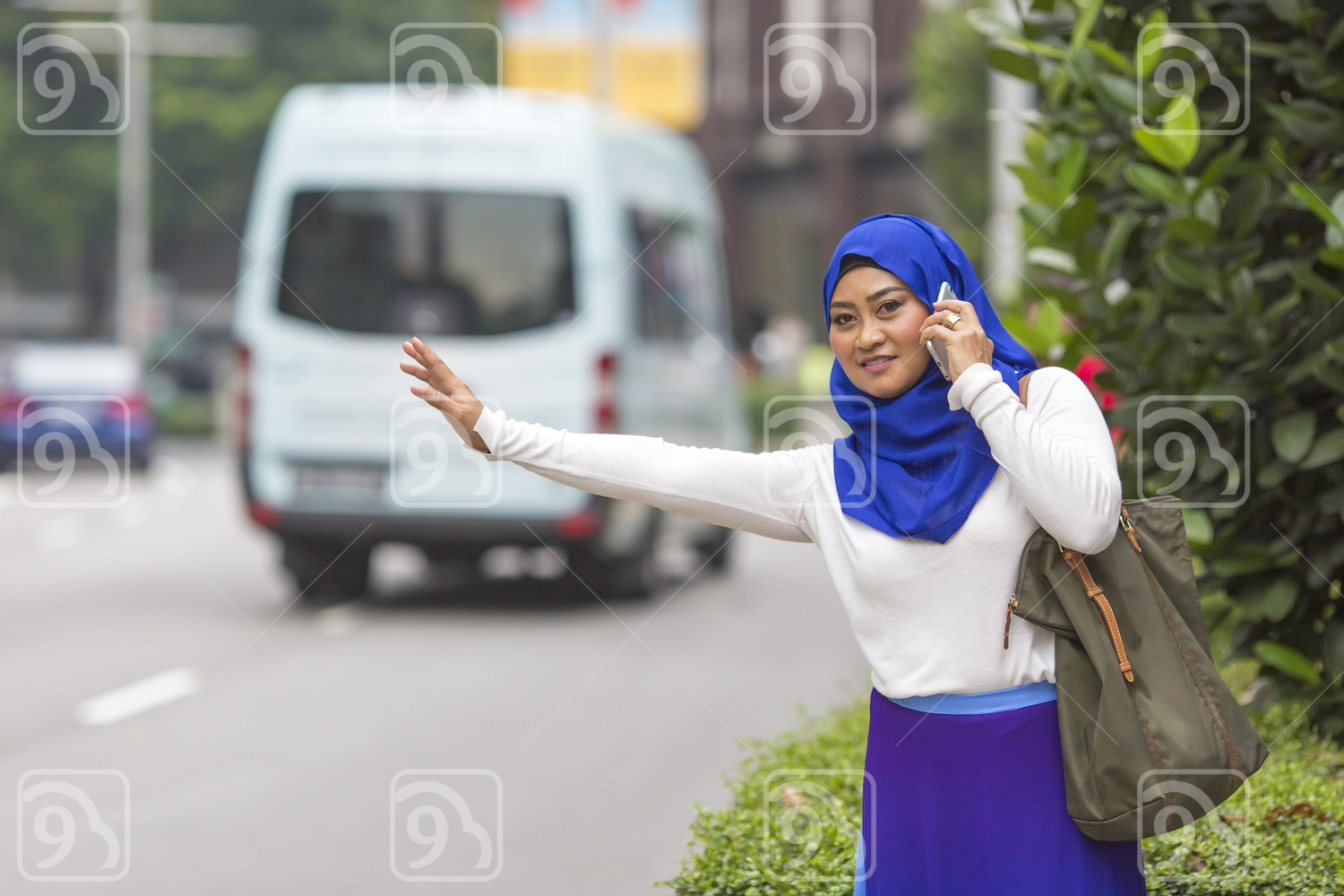 Woman talking on the mobile