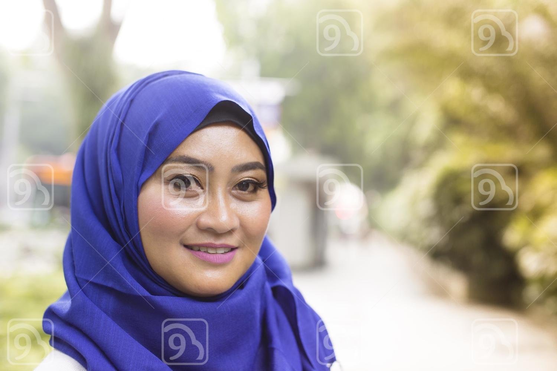 Smiling beautiful Malay woman
