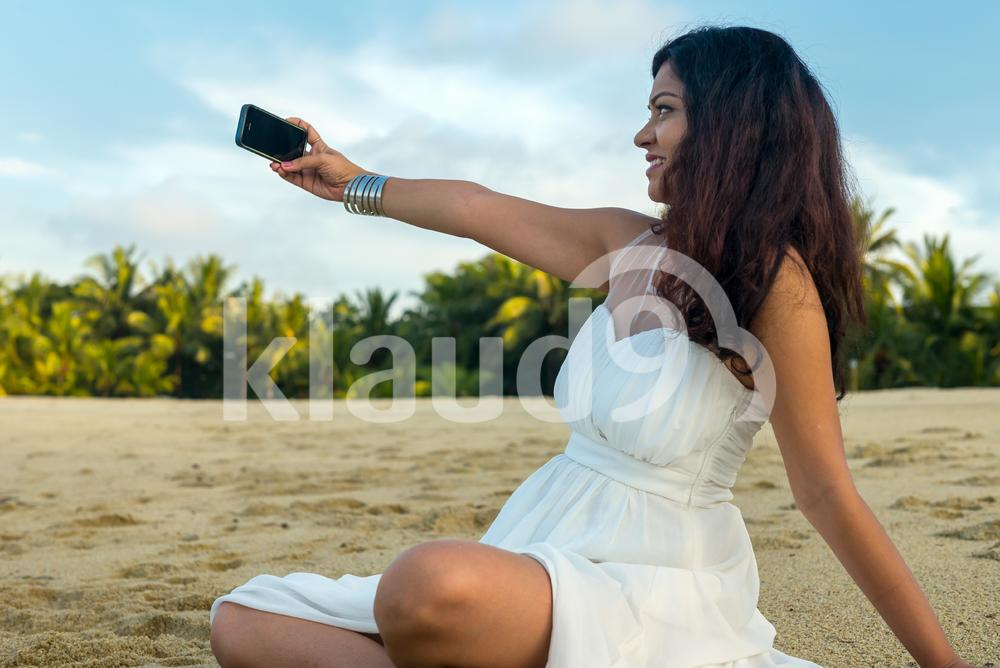 Indian lady doing a selfie
