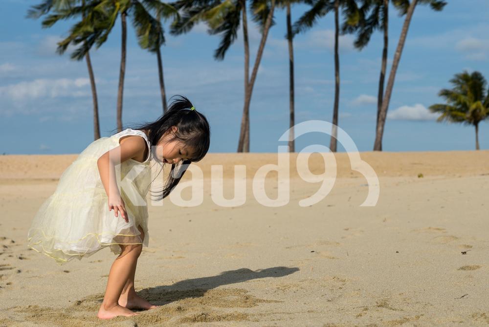 Cute beach girl