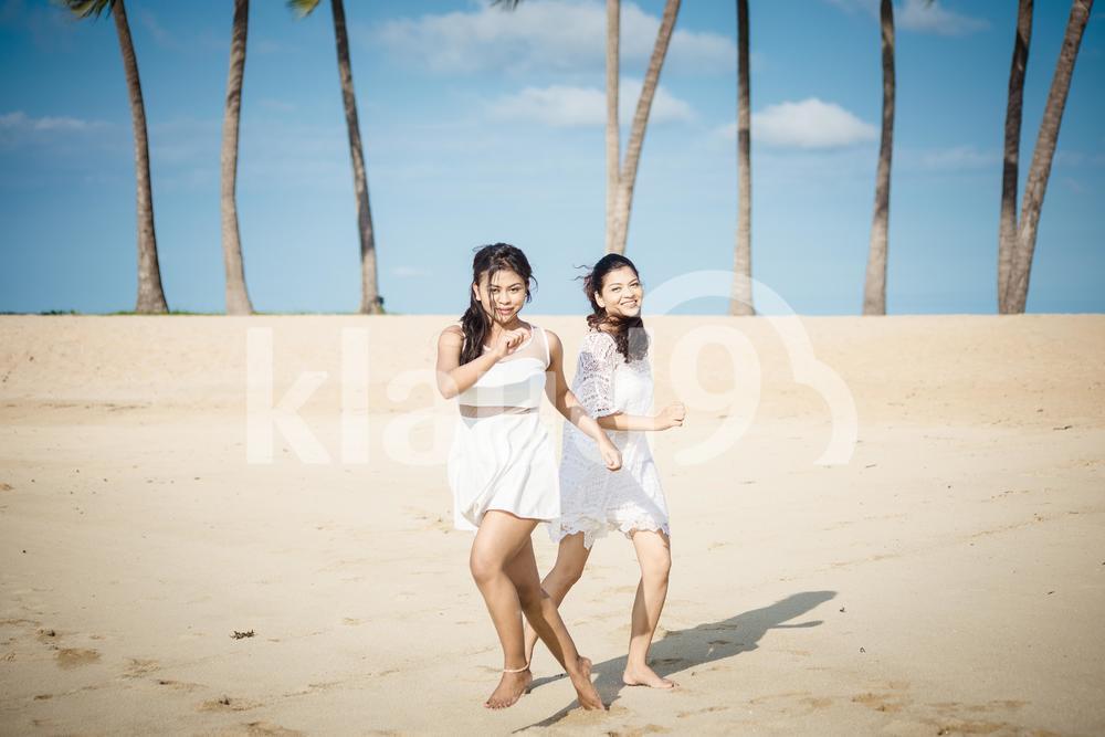 Girl Friends at Beach