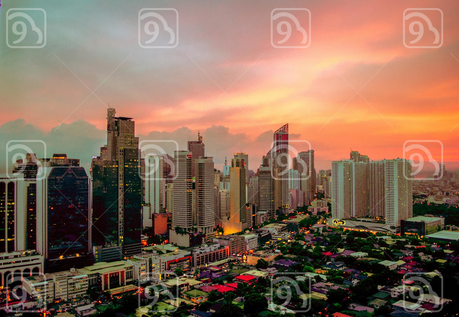 Golden Hour in the Business District of Makati
