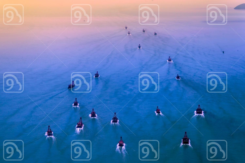 Crane Vessels departing
