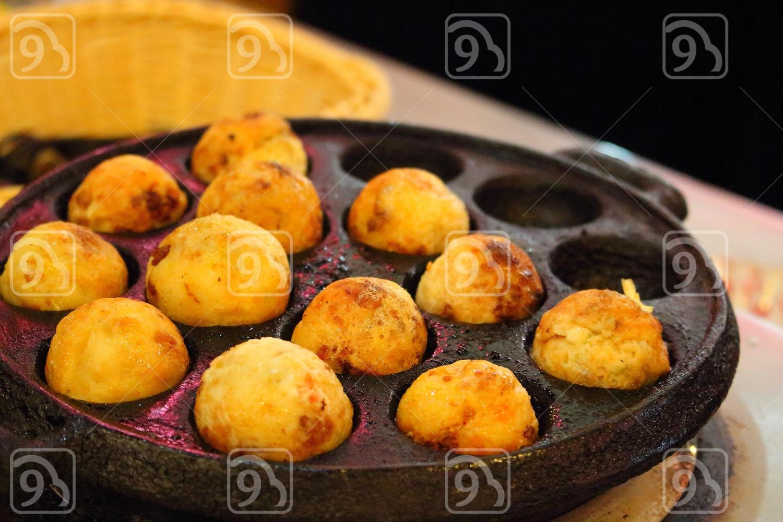 Japanese takoyaki Balls