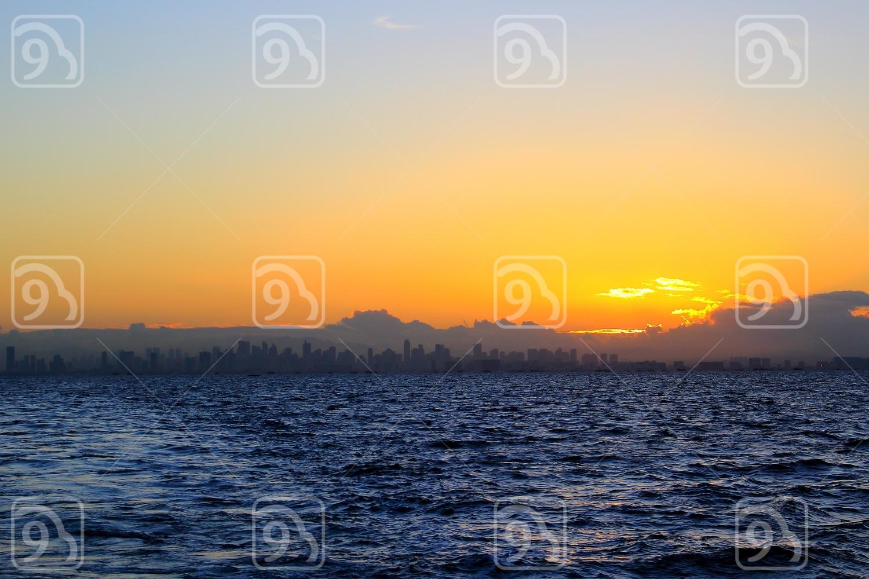 Sunrise over Manila Skyline