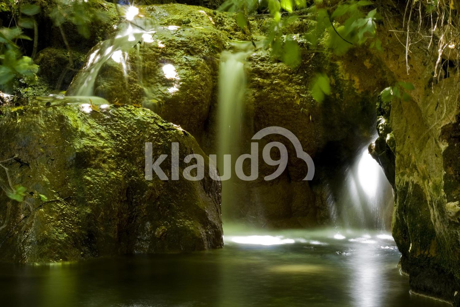 Waterfall at Nature reserve Nahal Amud Israel