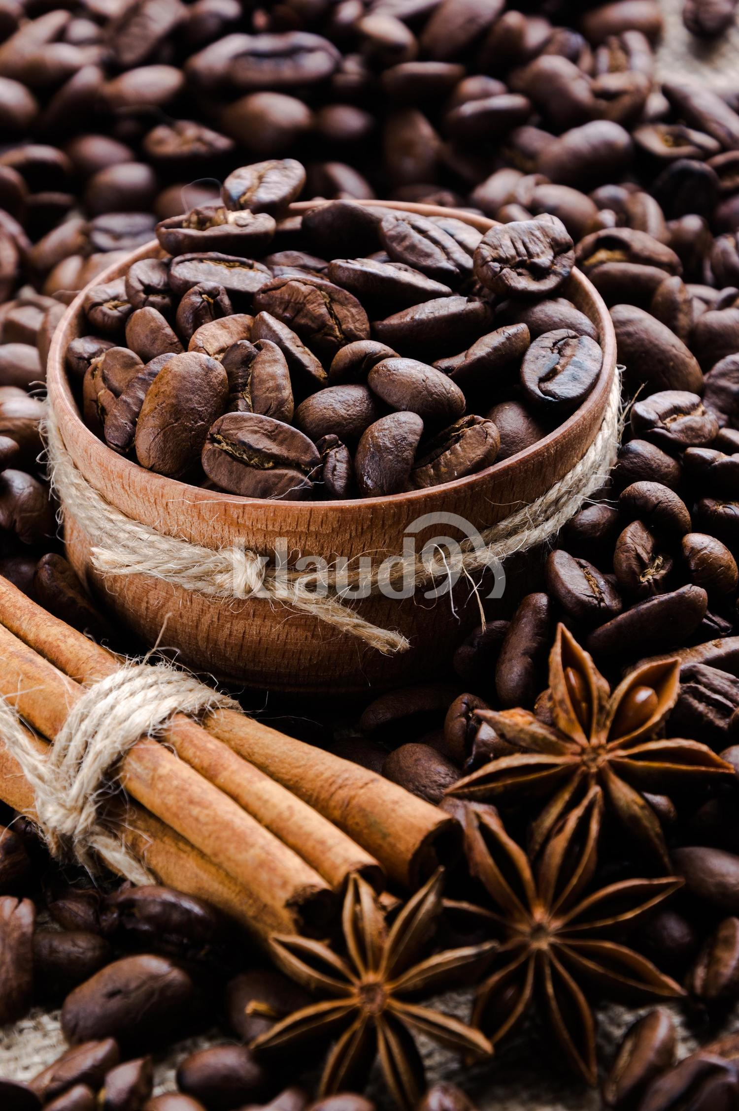 coffee with cinnamon sticks and star anise