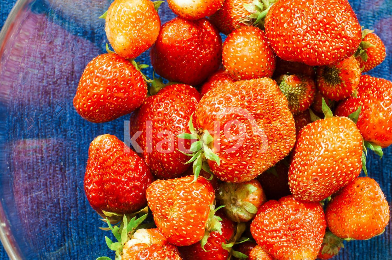 Fresh strawberries from the garden