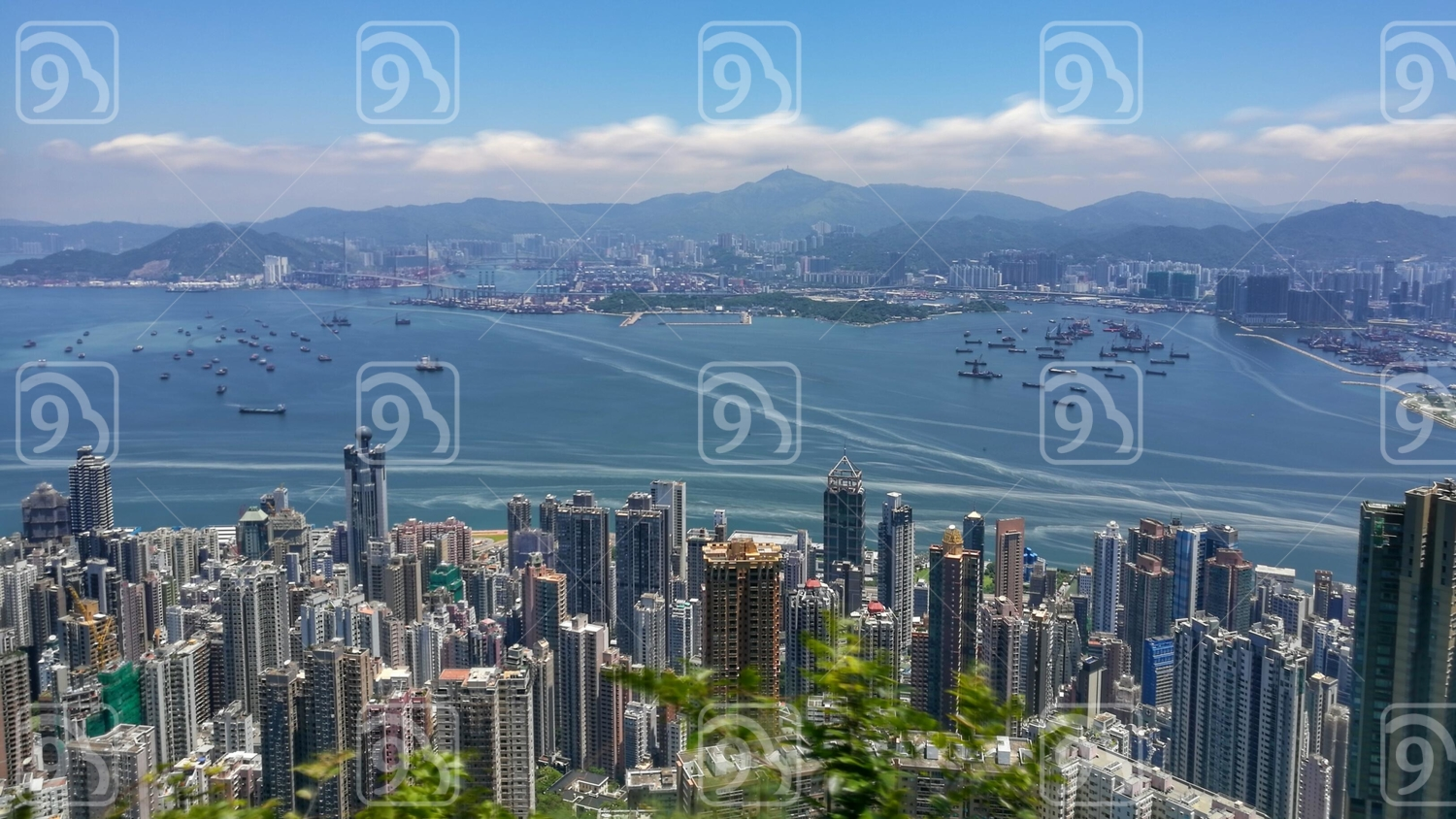 View from Peak of Hong Kong