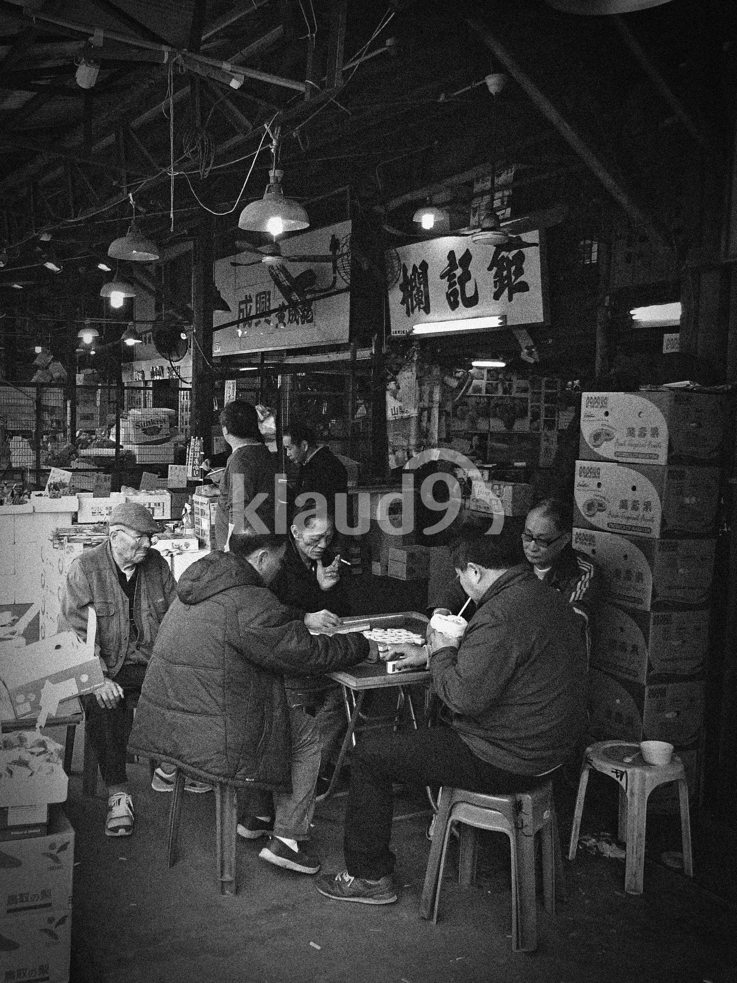 Mahjong after work in Hong Kong
