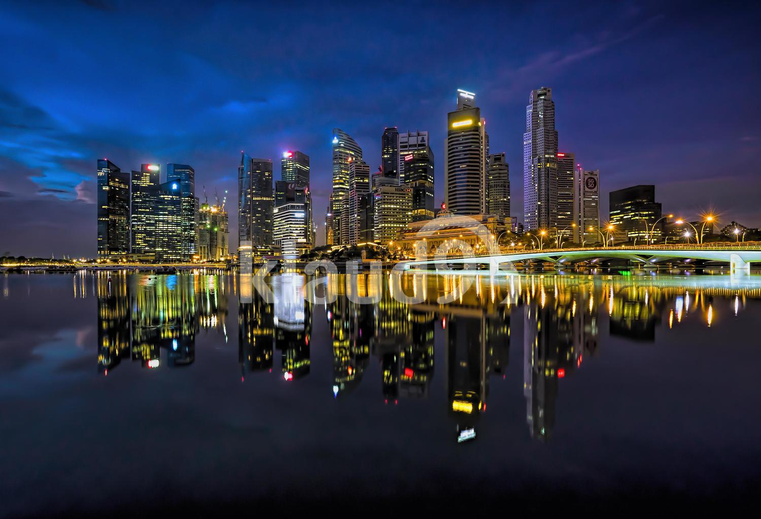 Singapore Financial District @ Dawn
