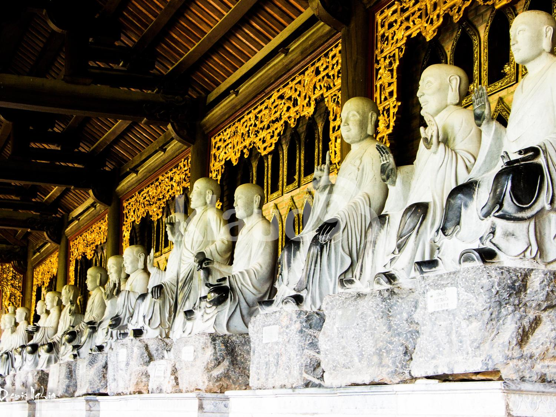 Arhant statues at Bai Dinh Pagoda