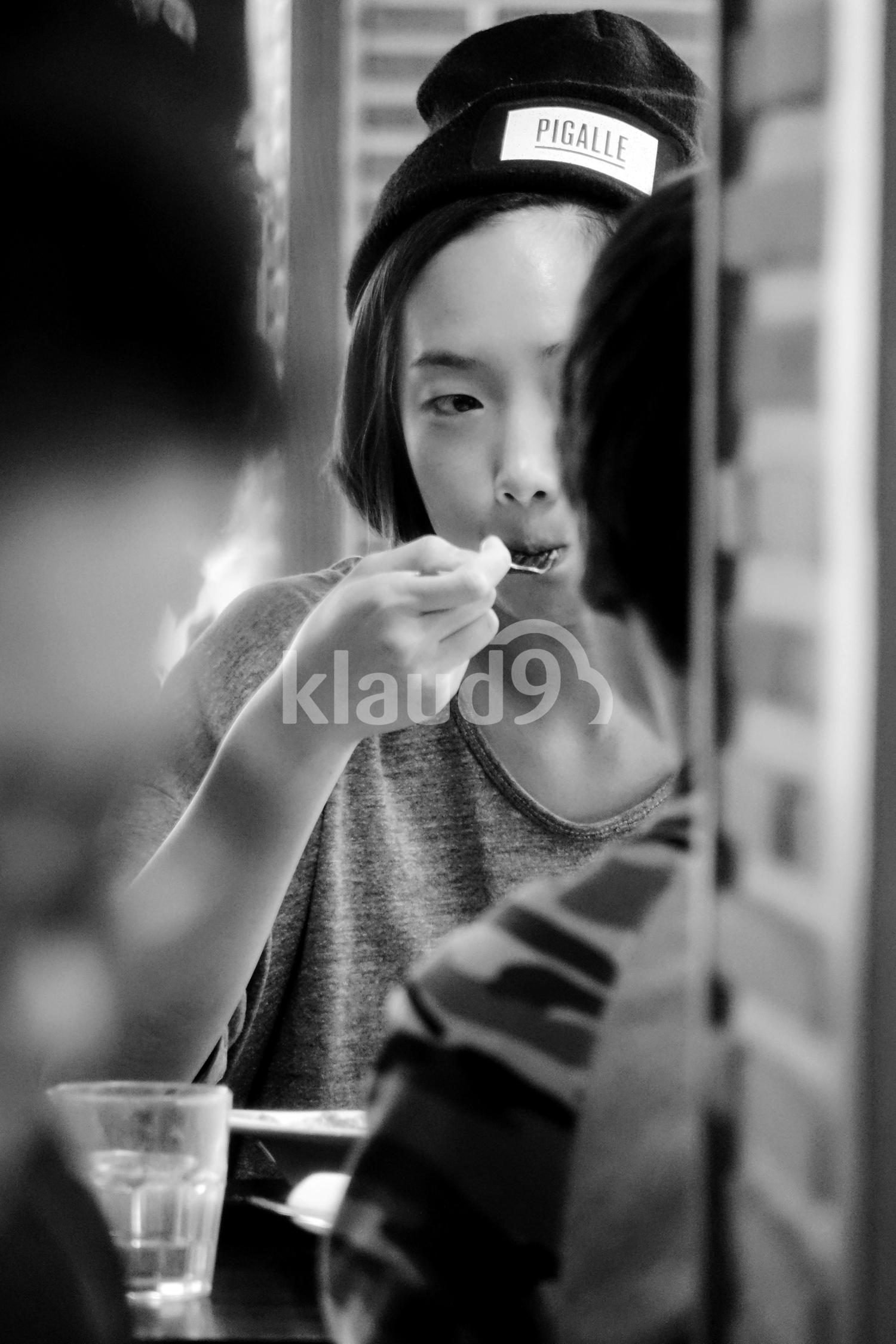 Korean Lady in Cafe