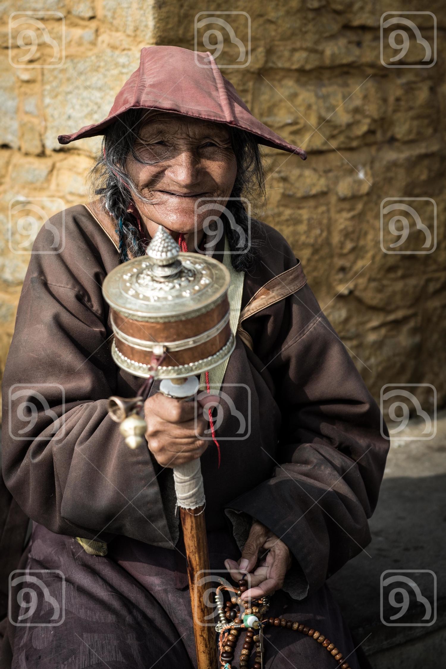 Tibetan Old Lady
