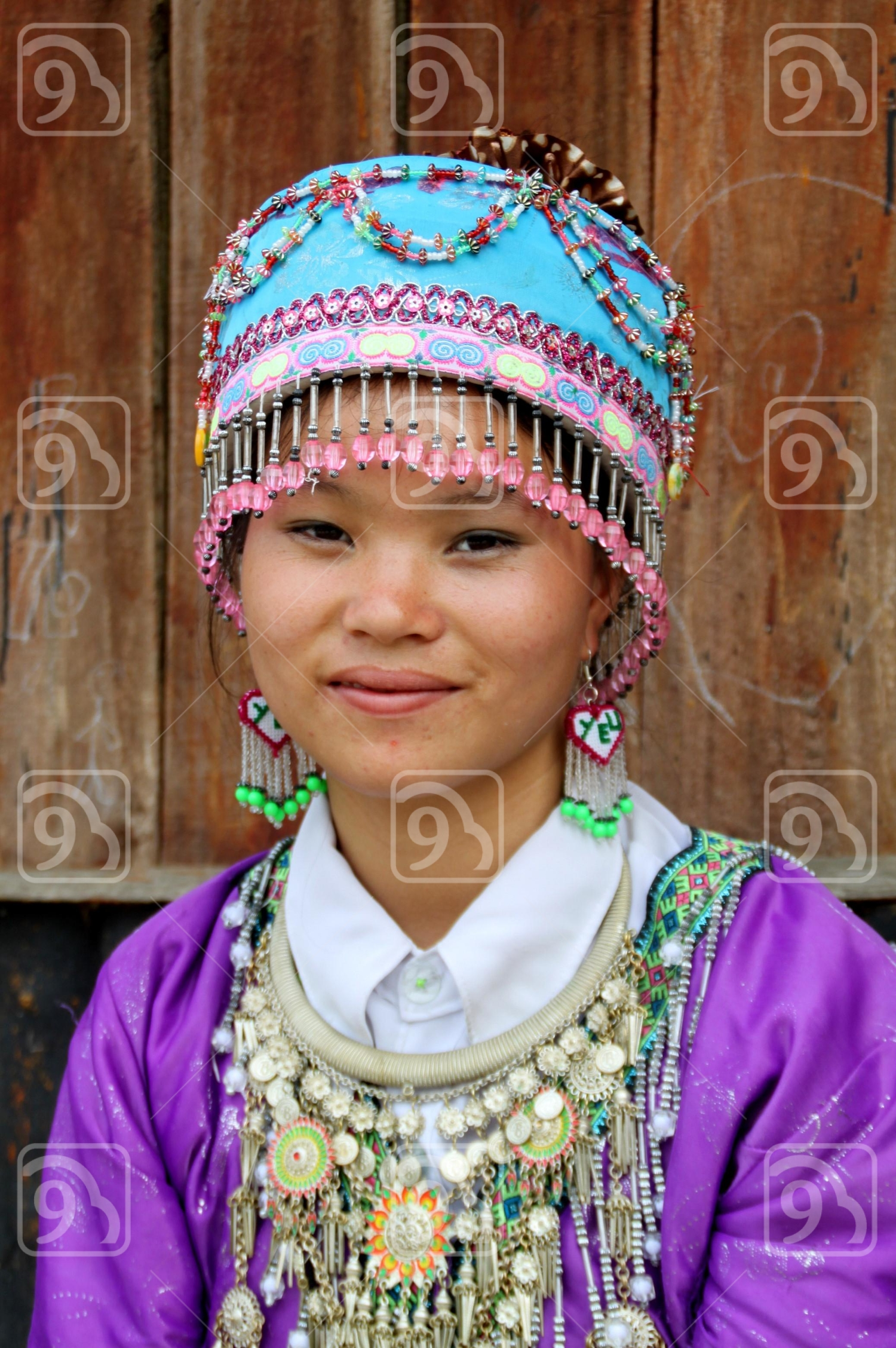 Smiling girl in Sapa