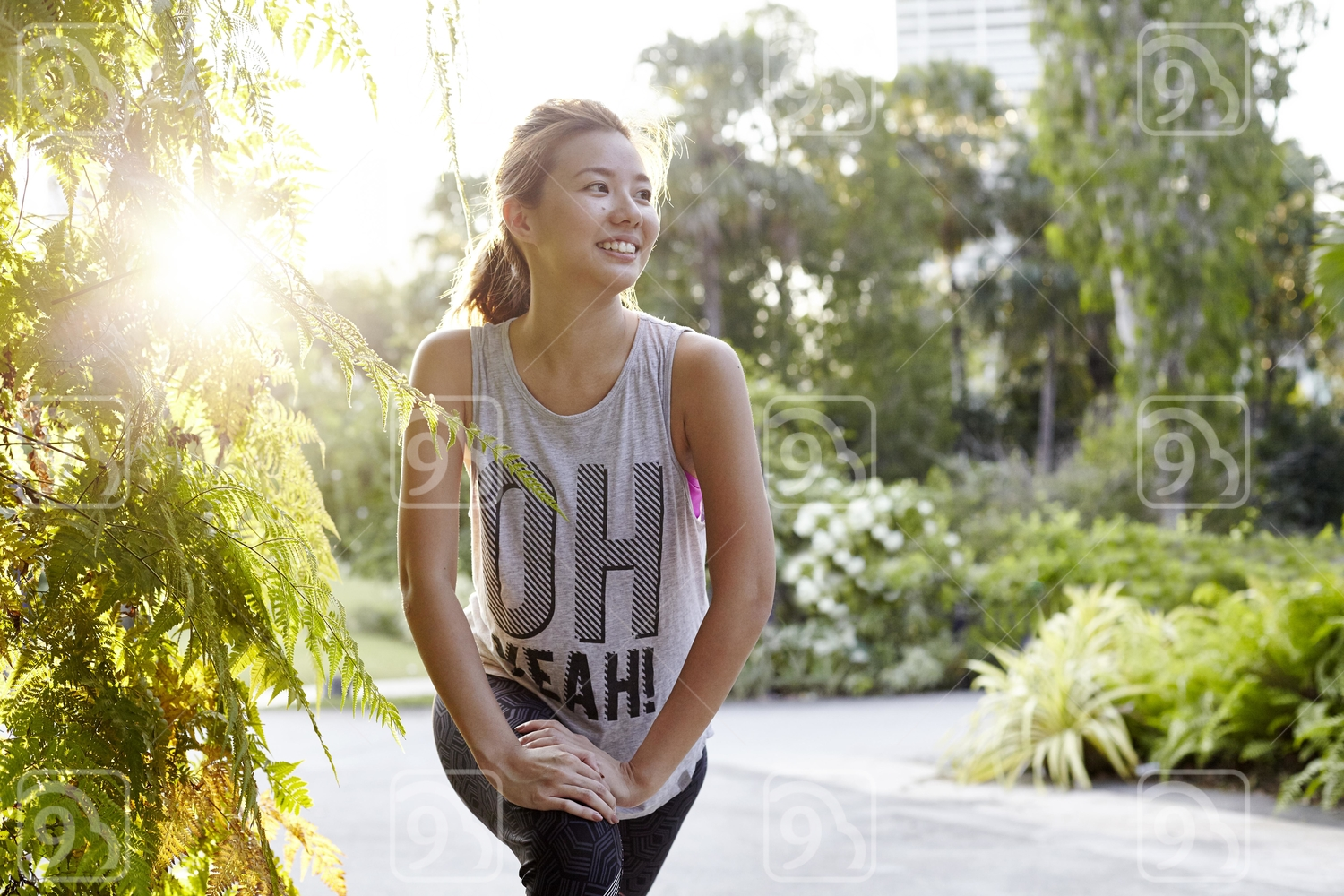 Beautiful Smiling Woman after a run.