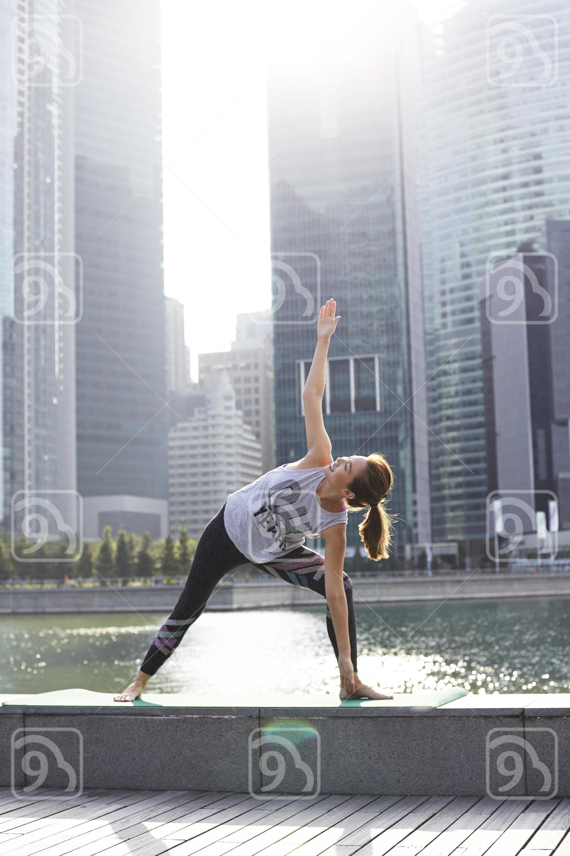 Yoga time at Marina Bay Sands