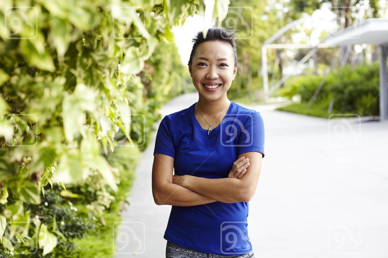 Portrait of a jogger