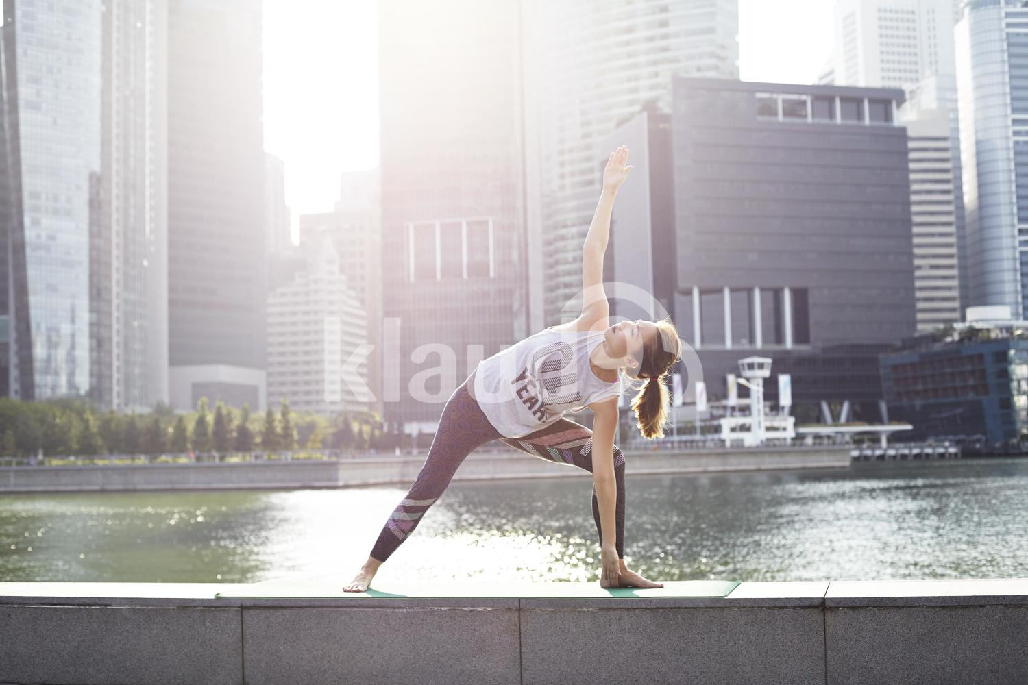 Yoga time at Marina Bay Sands