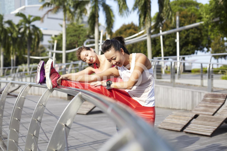 Stretching out at Marina Bay Sands