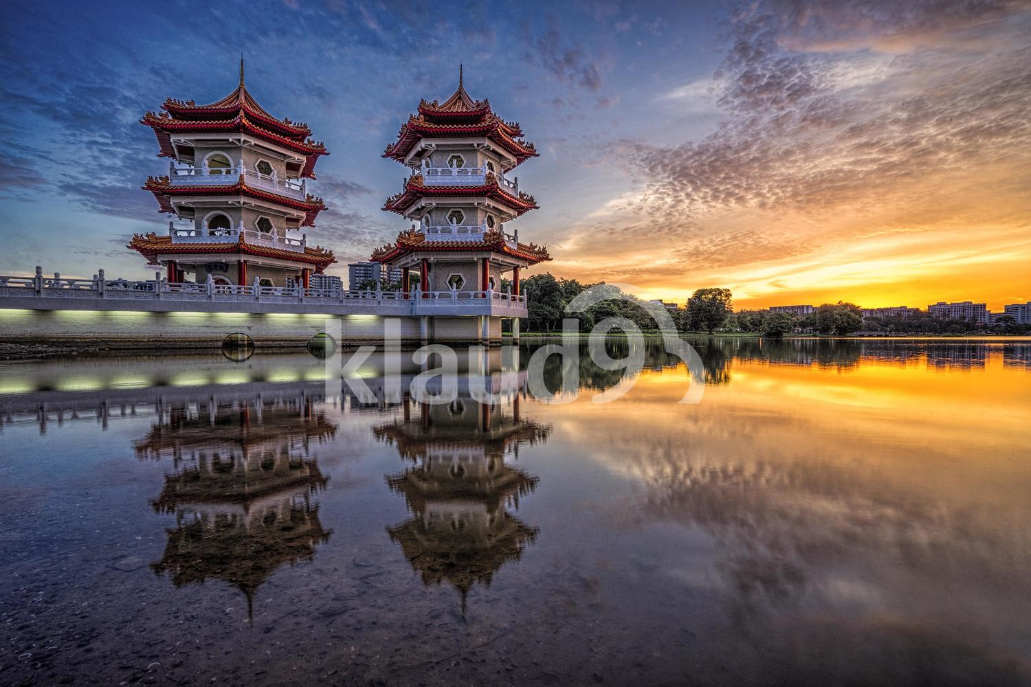 The Twin Pagodas at Chinese Garden