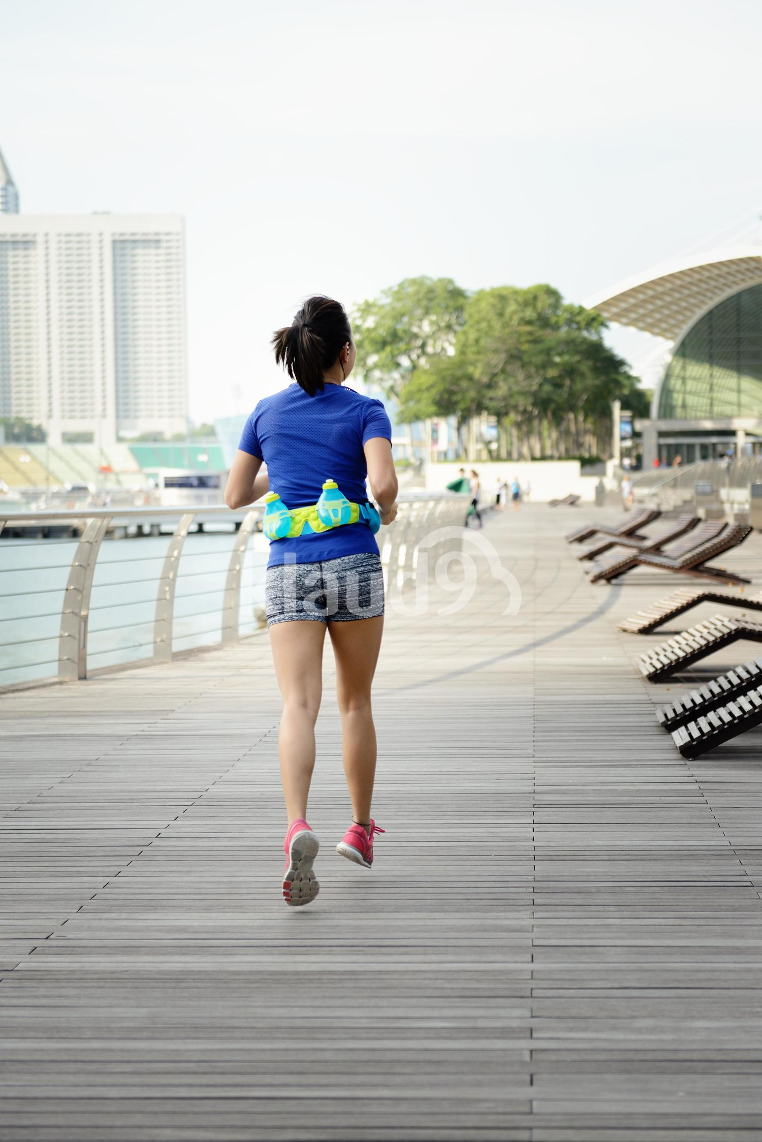 Backview of Woman Running