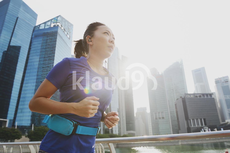 Running along Marina Bay Sands