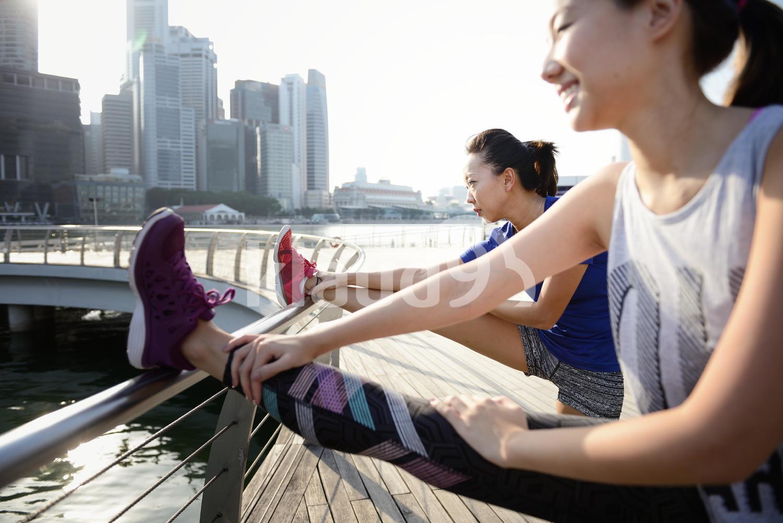 Sweaty work out along Marina Bay