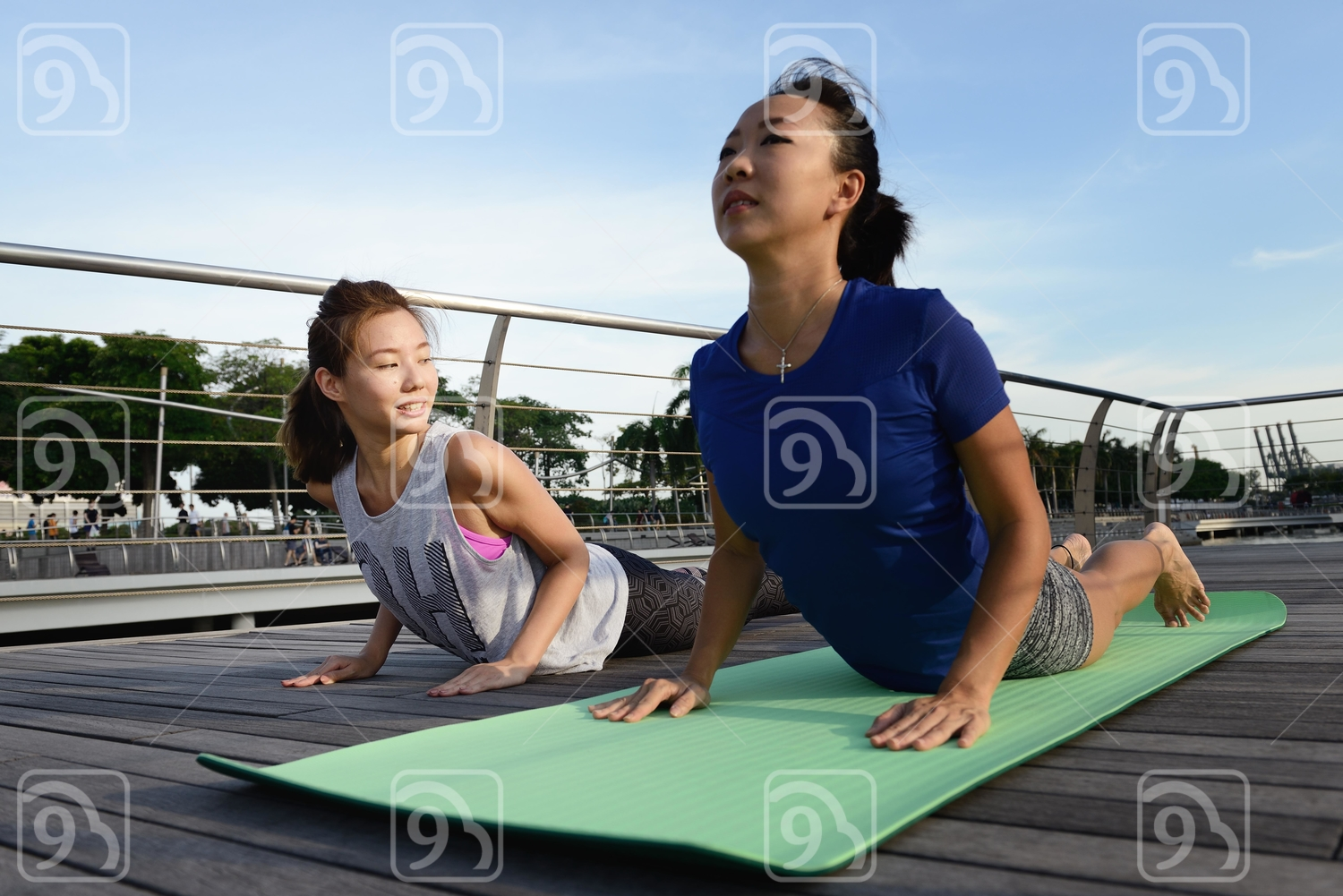 Bonding over Yoga at Marina Bay Sands
