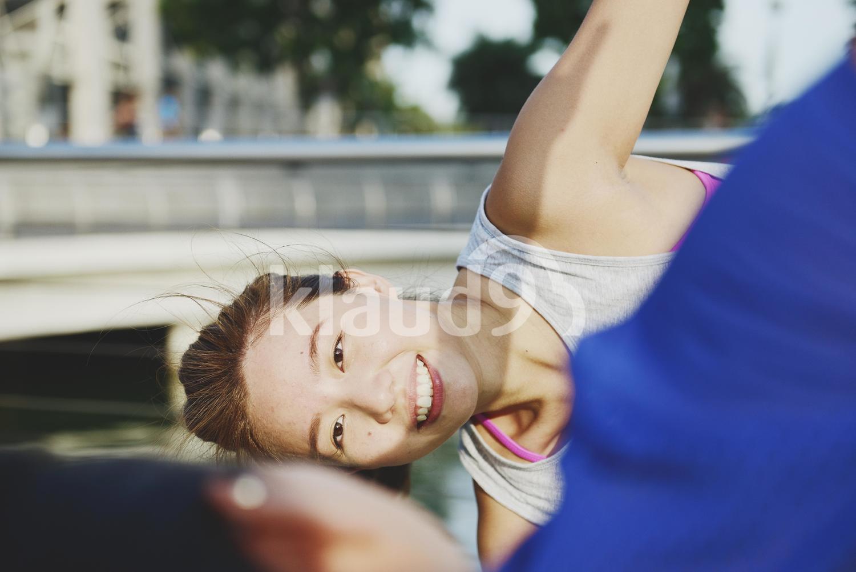 Bonding over Yoga at Marina Bay Sands