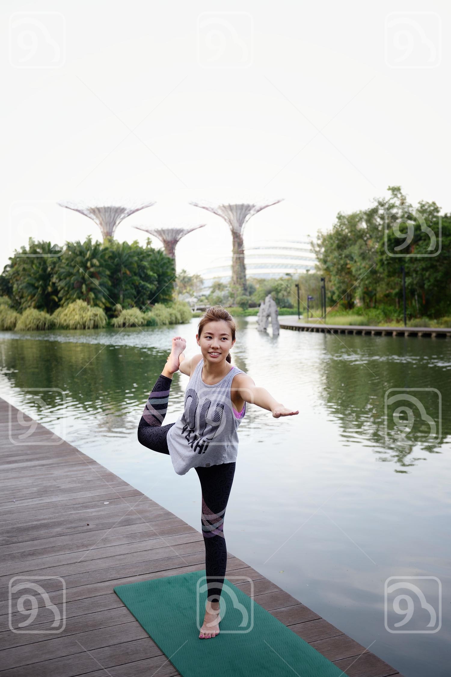 Pretty Yoga Enthusiast