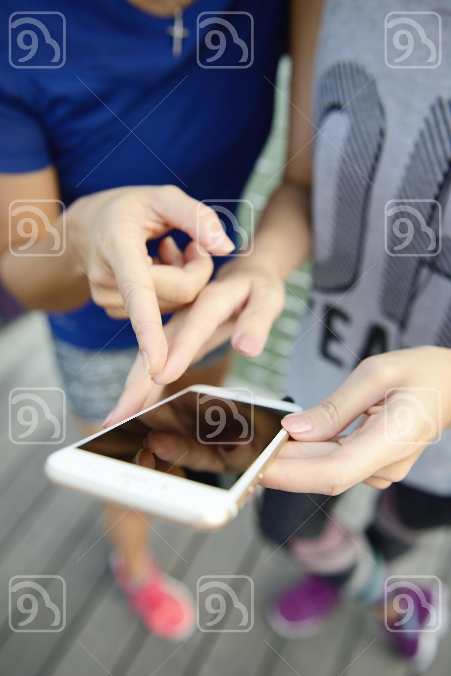 Women bonding over a videoclip