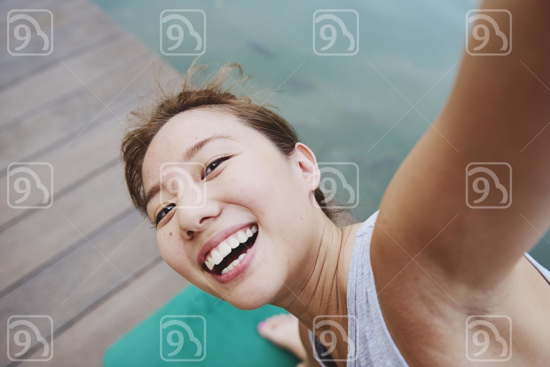 Yoga Keeps Her Smiling