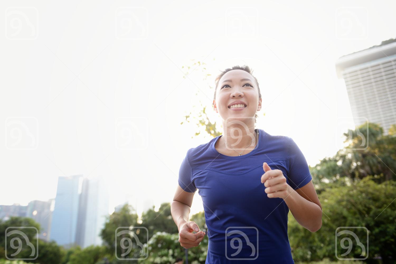 Woman Happily Running