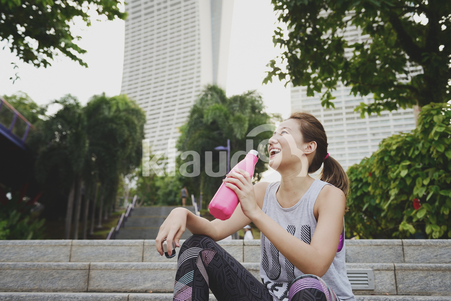 Woman Taking a Break from Yoga