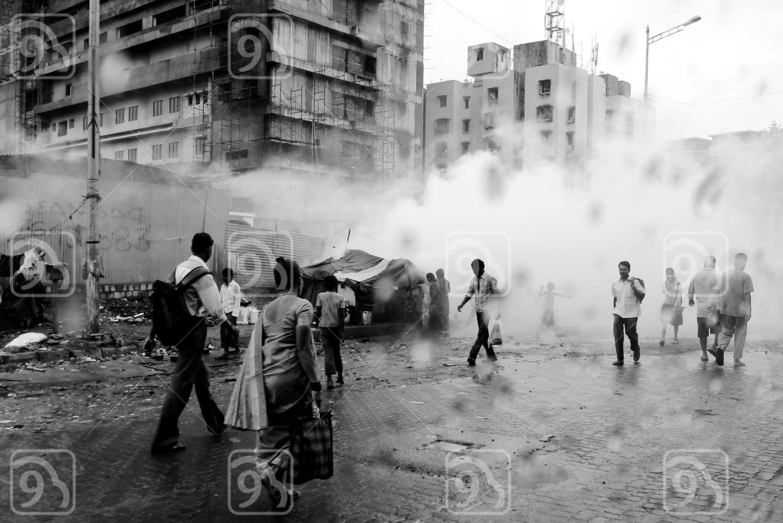 People in the street of Mumbai