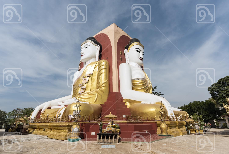 Kyaikpun Buddha, Bago, Burma