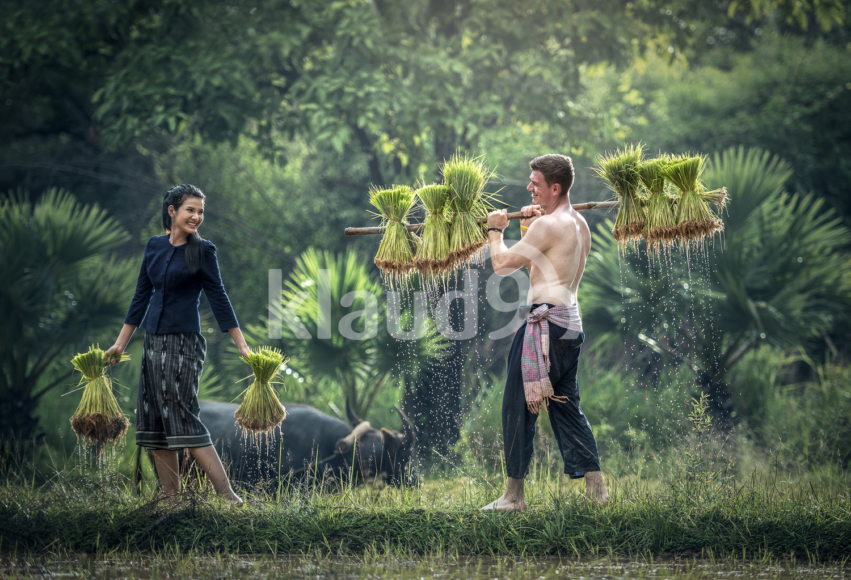 Couple farmer in Thailand