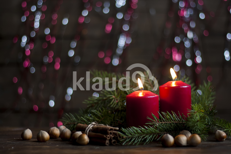 Christmas candles and lights