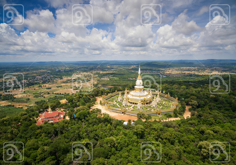 Aerial View Wat Pha Nam Yoi
