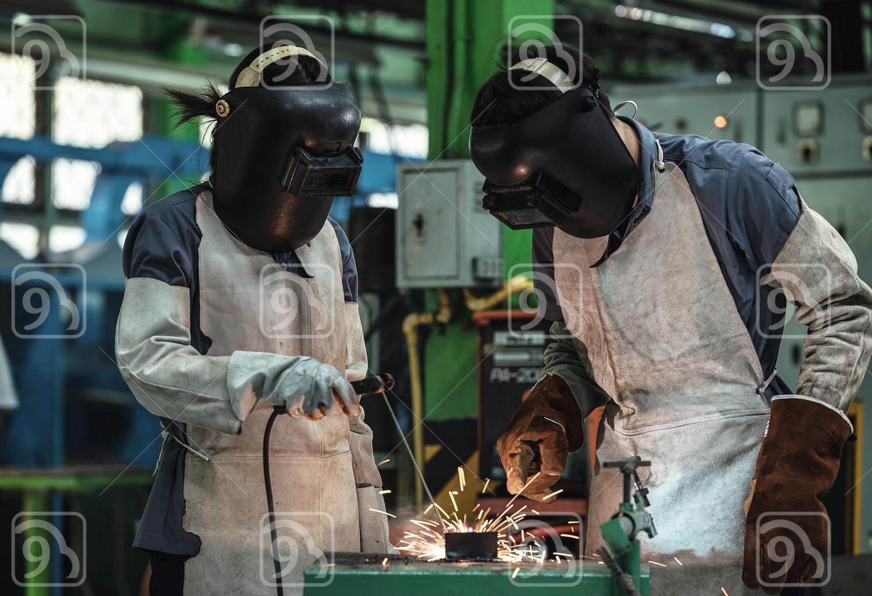 Industrial welder worker