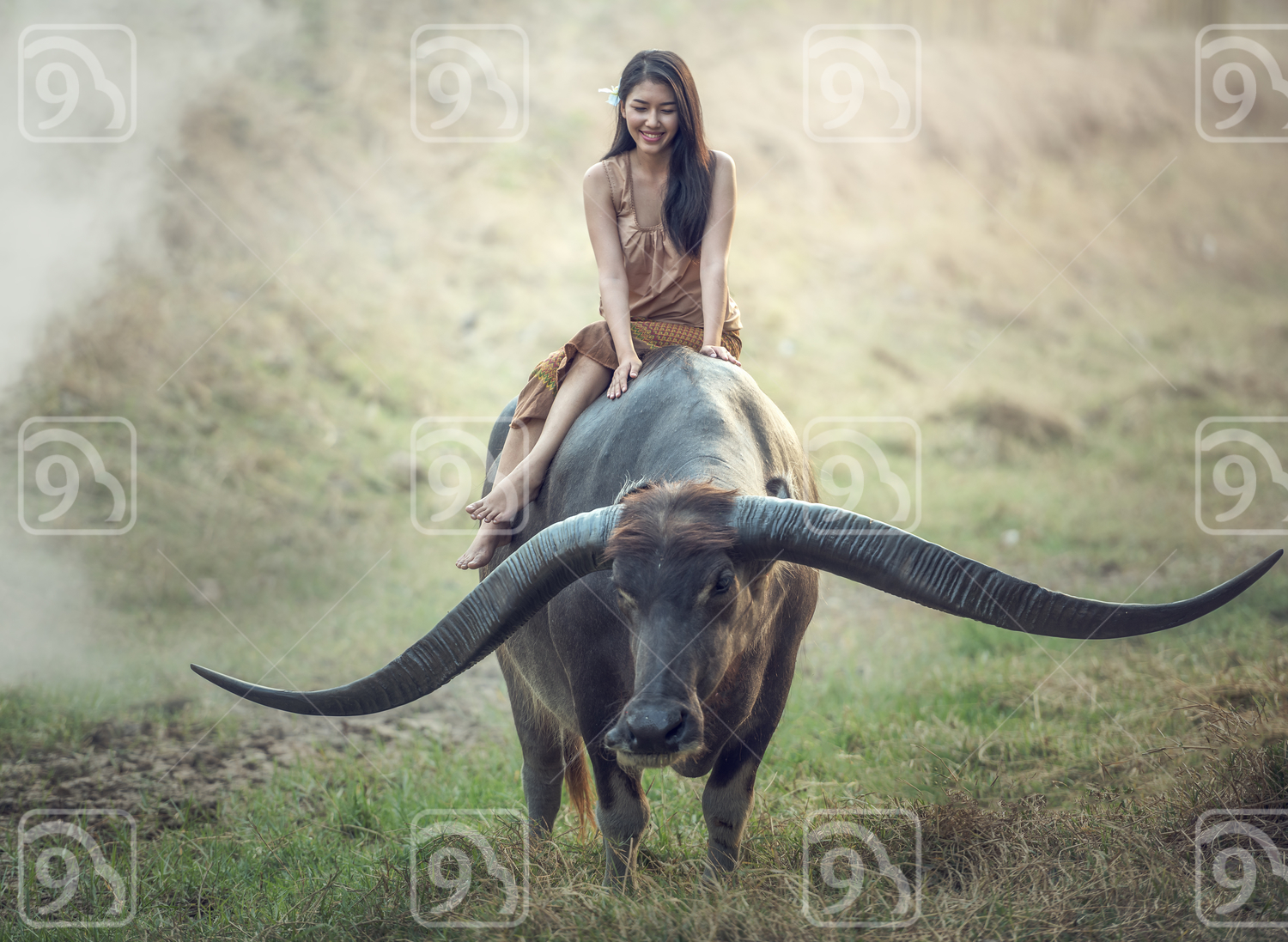 Asian woman (Thai) farmer
