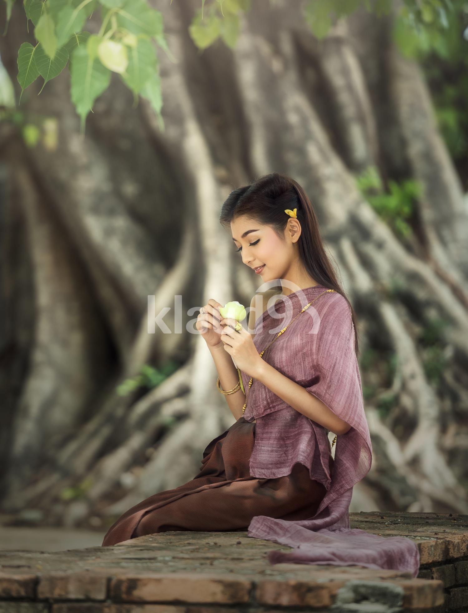 Thai woman in Thai dress