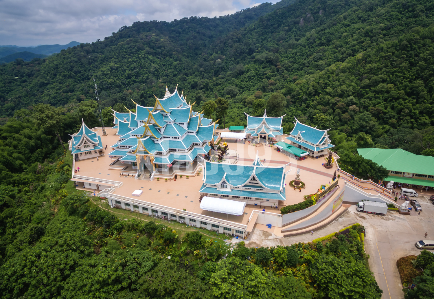 Temple Wat pa phukon Udonthani in Thailand